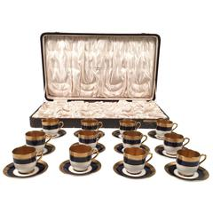 Coalport Porcelain Demitasse Service in Original Selfridges Presentation Box