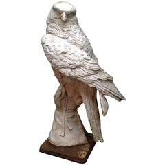 Cast Iron Falcon Sculpture