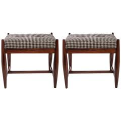 Pair of 1960s Sergio Rodrigues Stools
