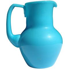 French Opaline Glass Pitcher