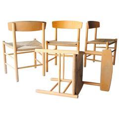 Set of Four J39 Chair by Børge Mogensen. Denmark, 1960.