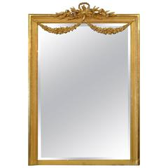 19th Century Louis XVI Style Gilded Mirror