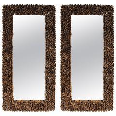 Teak Driftwood Wall Mirror