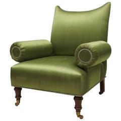 Vintage Lounge Chair Designed in the Regency Taste