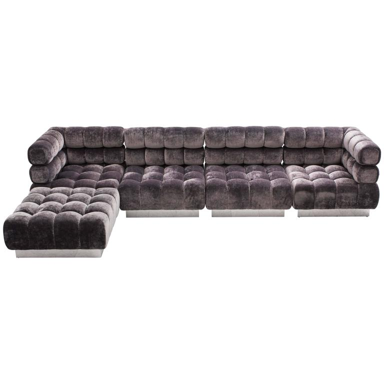 Todd Merrill Custom Originals, The Double Tufted Sectional, USA, 2016 For  Sale