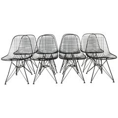 Charles and Ray Eames DKR5 Eiffel Base Chairs