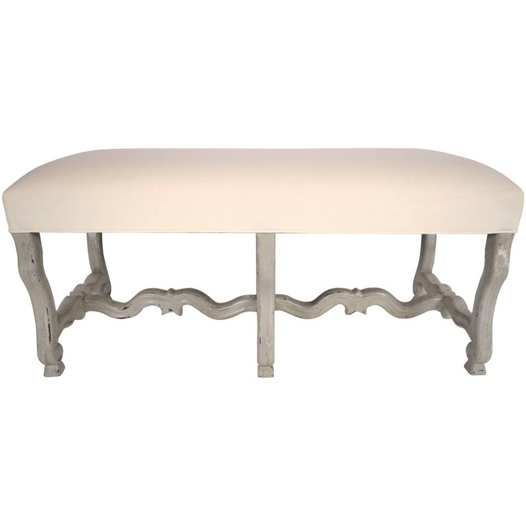 1970s French Painted Provincial-Style Bench For Sale