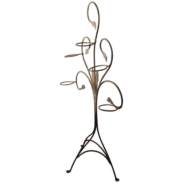 Salterini Wrought Iron Plant Stand