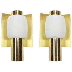 Pair of Mid-Century Brass Wall Sconces by Cosack, Germany, 1960s