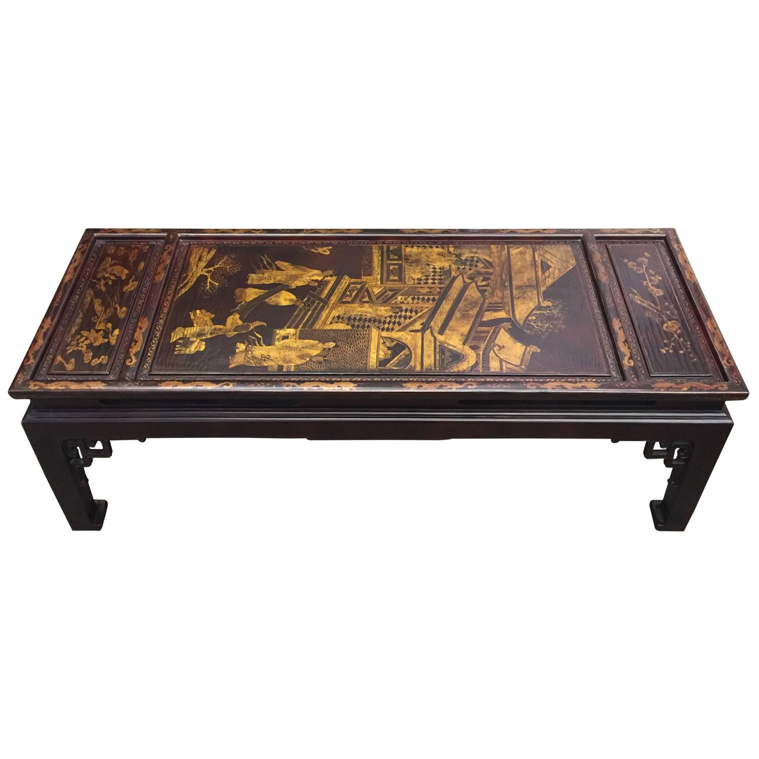 Vintage Chinoiserie Coffee Table For Sale At 1stdibs