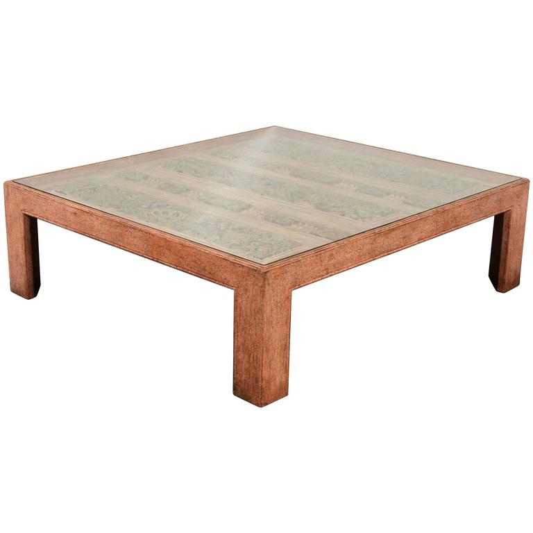 Moroccan Handcrafted Large Square Coffee Table For Sale At 1stdibs