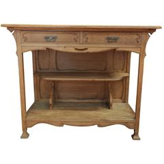 French Art Nouveau French Oak Sideboard Cabinet, 1900s