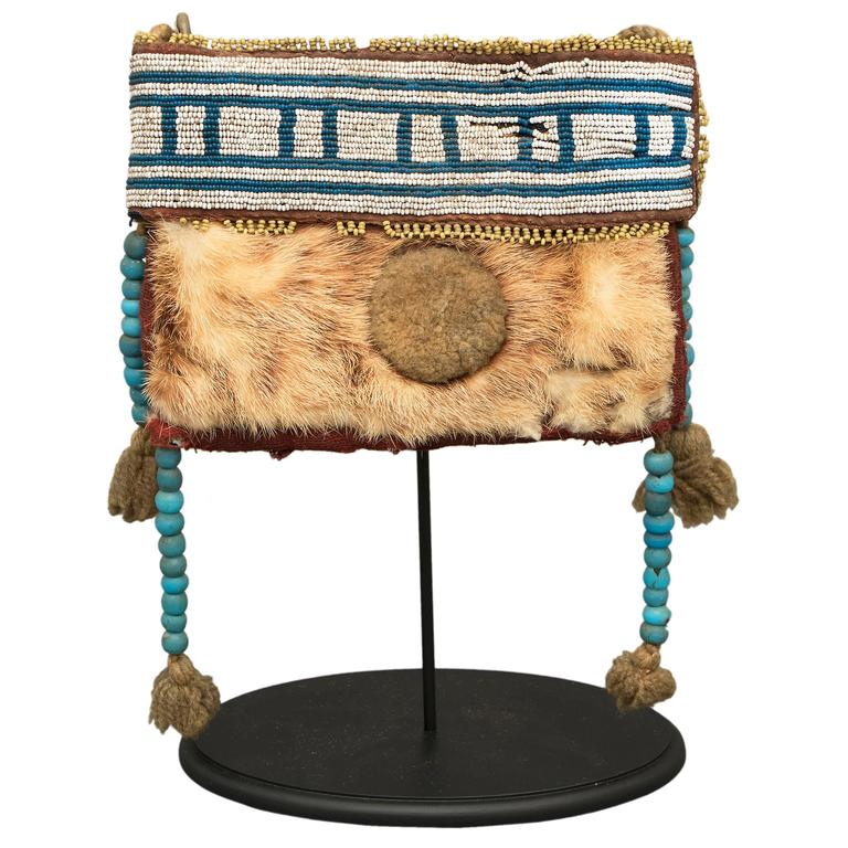 Antique native american pouch athapaskan classic period for American classic antiques