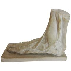 Plaster Foot Educational Model by Sculpture House