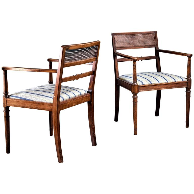 Axel Einar Hjorth Pair of Armchairs for SMF, Bodafors, Sweden, 1920s