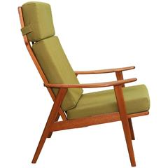 Danish Modern High Back Arm Chair