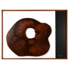 Modernist Wooden Wall Sculpture