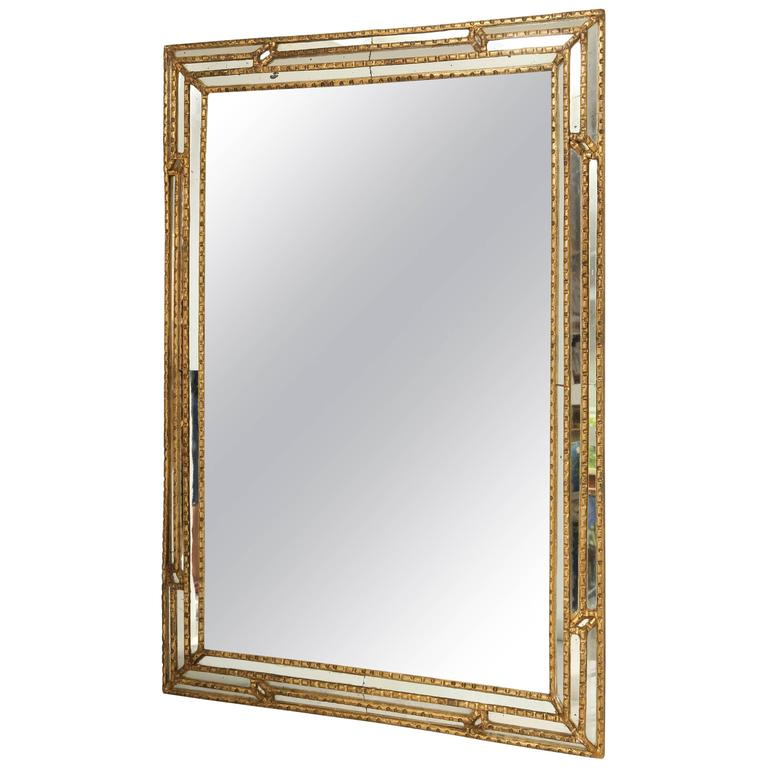Italian Giltwood Mirror with Reliefs