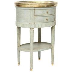 Oval French Commode with Mirrored Top