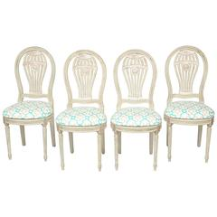 Set of Four Balloon Back Side Chairs