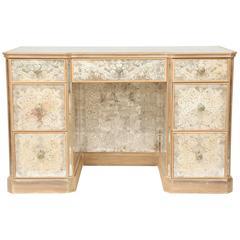 Mirrored Églomisé Kneehole Desk