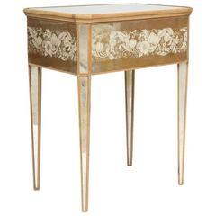 Mirrored Églomisé Bedside Table