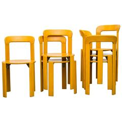 Set of Six Rey Chairs by Bruno Rey for Dietiker