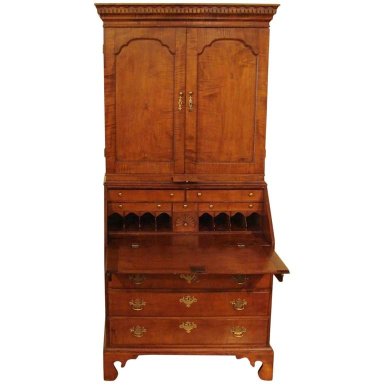 18th Century American Maple Secretary Bookcase