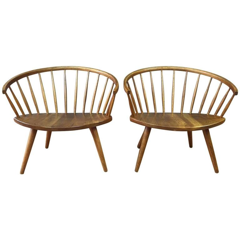 Pair of Yngve Ekström Oak u201cArka u201d Chairs for Stolab SATURDAY SALE at 1stdibs