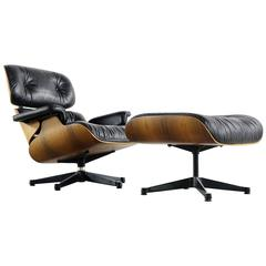 Charles & Ray Eames Lounge Chair 670 and Ottoman 671 Vitra Production