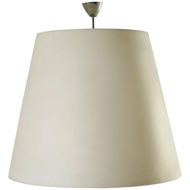Large Hanging Lamp Polyethylene Diffuser by Charles Williams for Fontana Arte For Sale