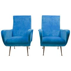 Pair of Lounge Chairs, Italy, 1950s