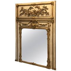 Louis XVI Giltwood Trumeau Mirror