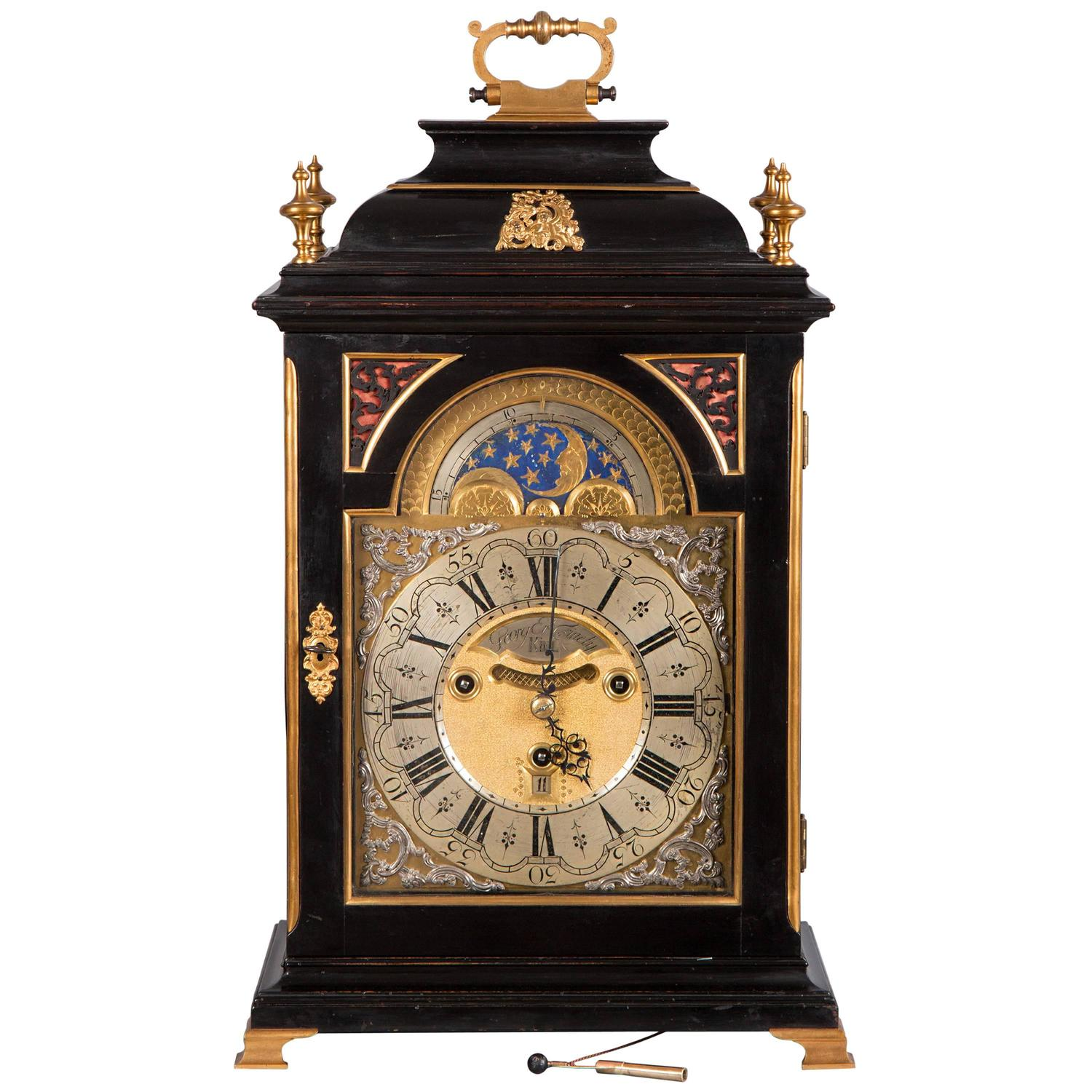 baroque mantel clock with chimes by georg erh finely