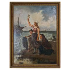 19th Century Oil on Canvas After Fernand Marie Eugene Le Gout-Gerard