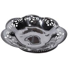 Edwardian Tiffany Sterling Silver Pierced Bowl