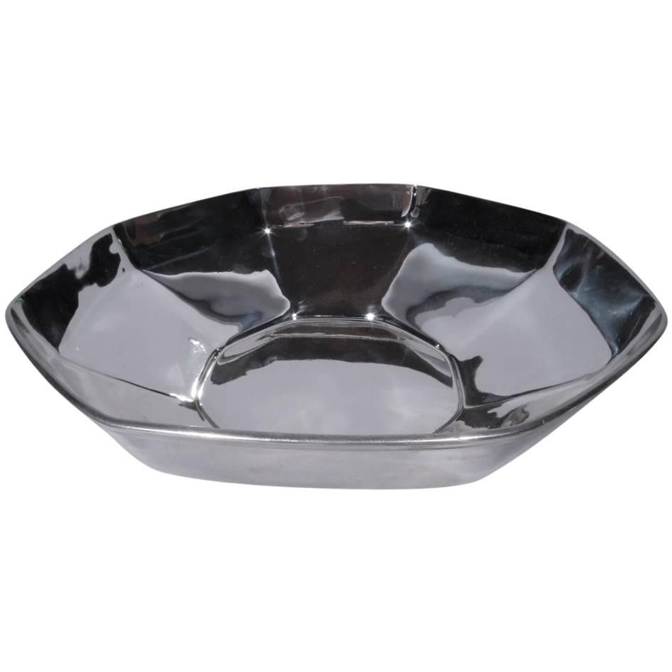 Art Deco Sterling Silver Octagonal Bowl by Tiffany