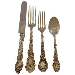 Marie Antoinette by Gorham Sterling Silver Flatware Service Set 34 Pieces Dinner