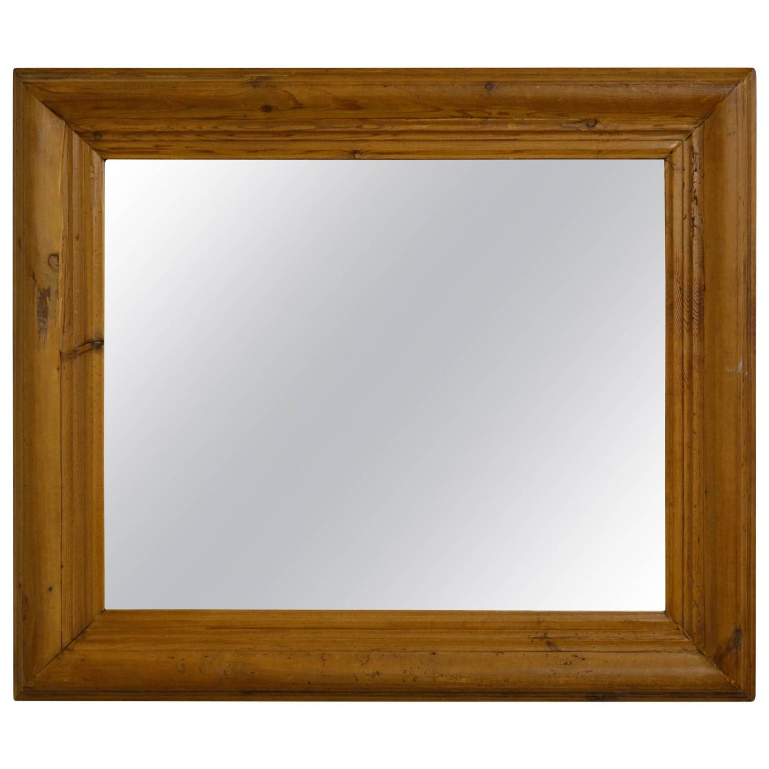 antique pine mirror frame for sale at 1stdibs. Black Bedroom Furniture Sets. Home Design Ideas
