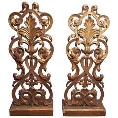 Pair of Italian Giltwood Carved Elements