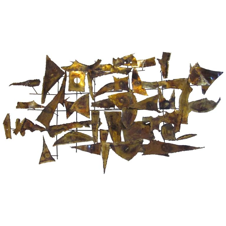 Curtis Jere Styled Brutalist Wall Sculpture