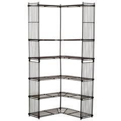 Rare Tjerk Reijenga for Pilastro Standing Wire Corner Unit