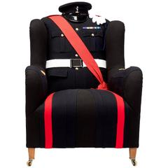 The Royal Signal Corps Uniform Wing Chair.