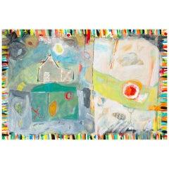 "Mark Palmer ""Lazy Sunday"" Mixed Media/Collage on Canvas, 2016"