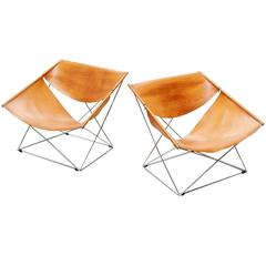 Pair of Pierre Paulin F675 Butterfly Chairs by Artifort, 1963