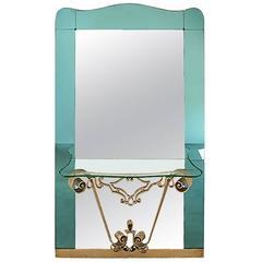 Pier Luigi Colli Hallway Mirror and Console, Mid-20th Century