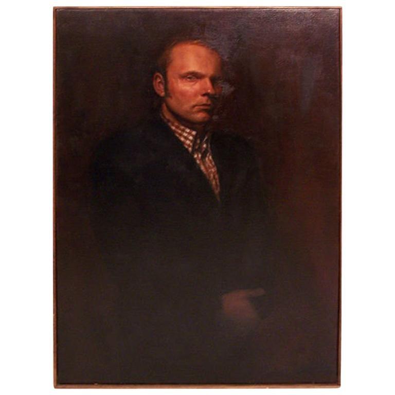 Large Portrait of a Gentleman, American Mid-20th Century, California Artist