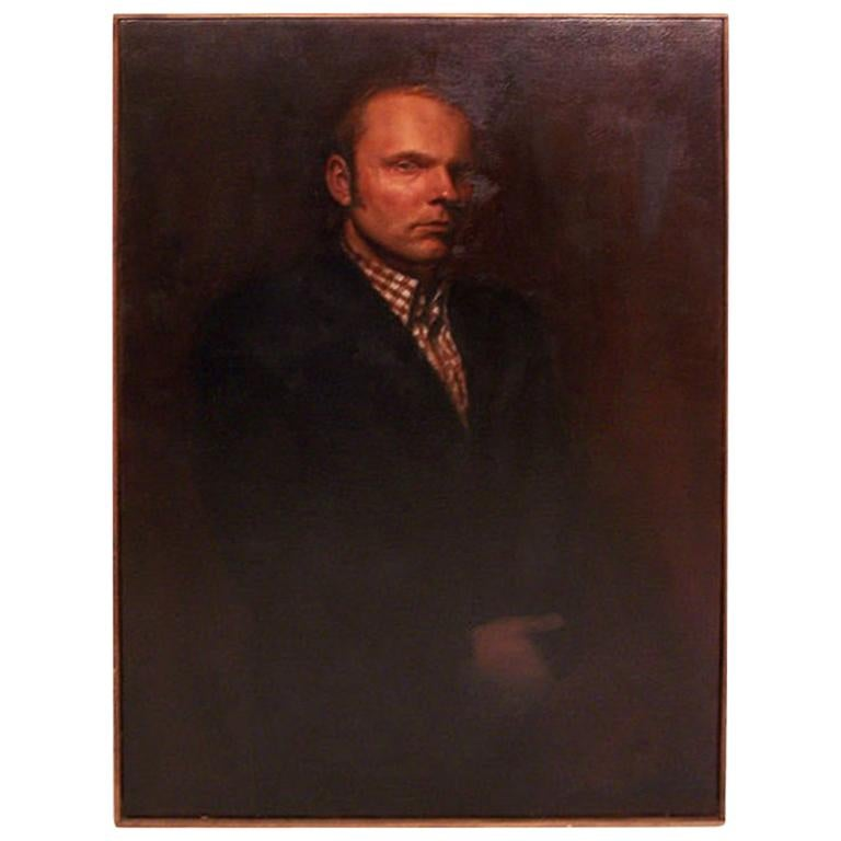 Large Portrait of a Gentleman, American Mid-20th Century For Sale