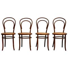 Set of Four Chairs by Fischel, circa 1910