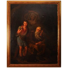 "19th Century Oil Painting ""Fugit Irreparabile Tempus"""